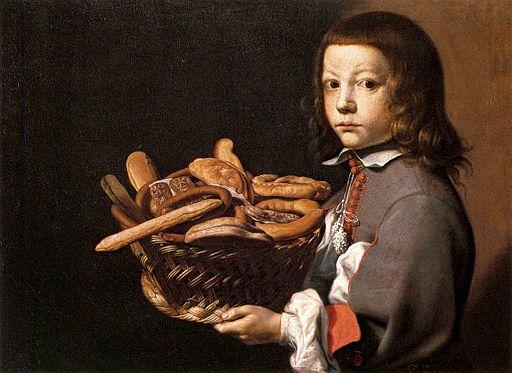 Evaristo Baschenis - Boy with a Basket of Bread - WGA1404