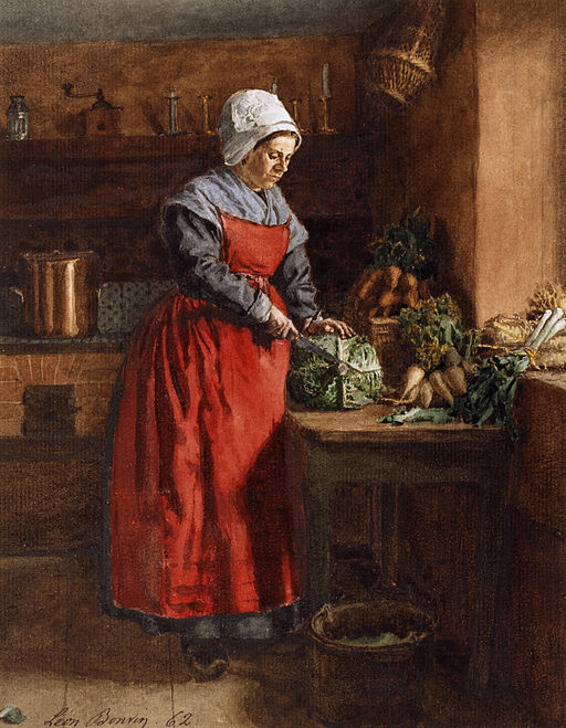 Gemälde: Cook with Red Apron