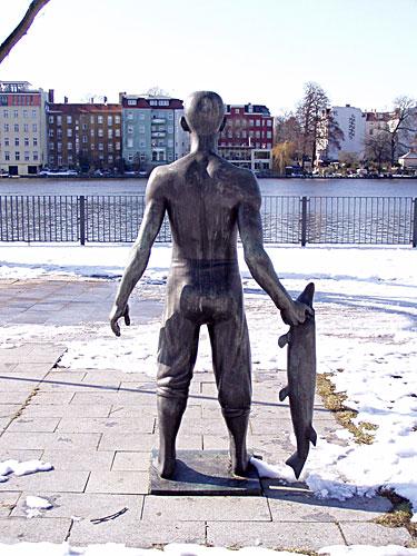 Fischer-Statue in Köpenick