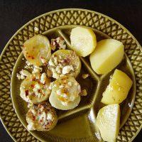 geschmorte Landgurke mit Olivenkraut und Feta