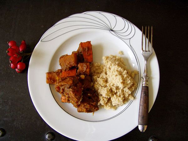 Kürbis-Gulasch mit Couscous