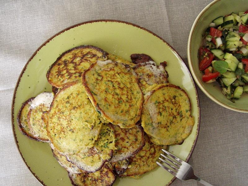 Kuku-ye sibzamini - persische Kartoffelküchlein