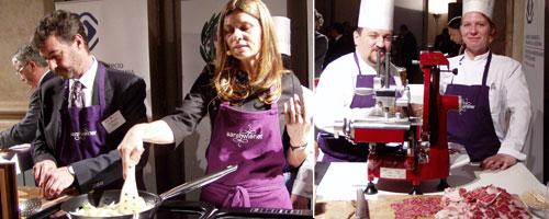 Sarah Wiener Koch-Show in der italienischen Botschaft