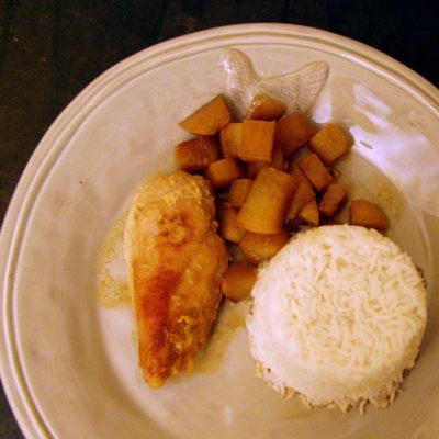 Schwarzer Rettich mit Fischsoße und Bärlauchessig