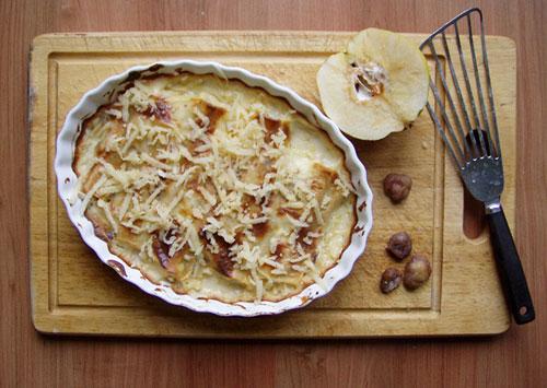 überbackene Cannelloni mit Sellerie-Maronenfüllung