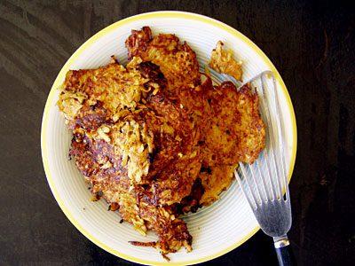 Sellerie-Süßkartoffel-Puffer