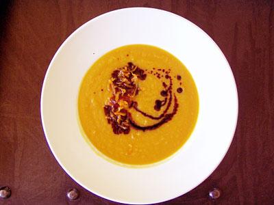 Süßkartoffel-Rettich-Suppe